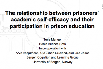The relationship between prisoners' academic self-efficacy and their participation in prison education