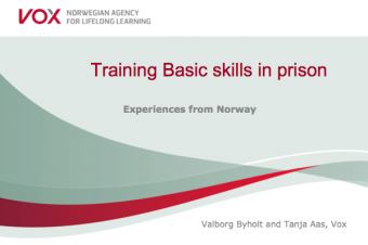 Training Basic Skills in Prison – Valborg Byholt and Tanja Aas, Vox