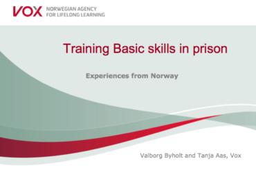 Training Basic Skills in Prison – Valborg Byholt and Tanja Aas, Vox