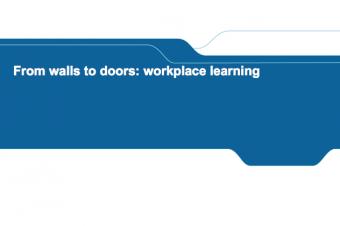 From walls to doors: workplace learning – Jürgen Van Poecke