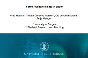 Former welfare clients in prison – Hilde Hetland