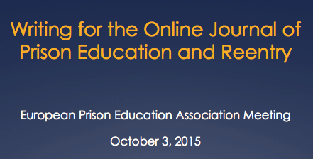 Writing for the Online Journal of Prison Education and Reentry – Ginger Walker