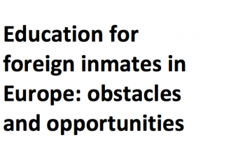 Education for foreign inmates in Europe: obstacles and opportunities – Fran Lemmers