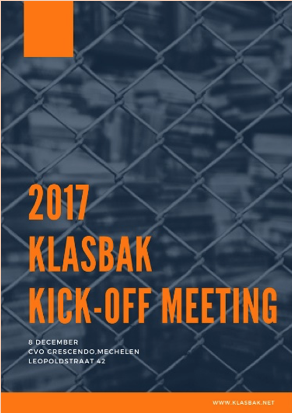 Klasbak Kick-off – Mechelen Belgium – 8 December 2017