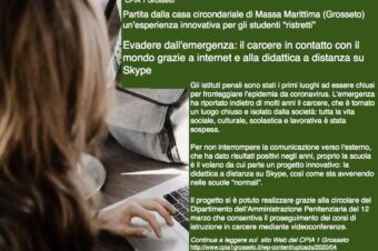 Press release: Italian prison use ICT to teach prisoner during lockdown